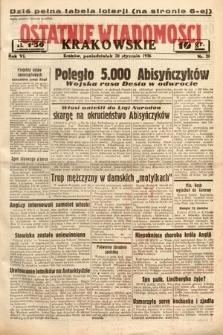 Ostatnie Wiadomości Krakowskie. 1936, nr20