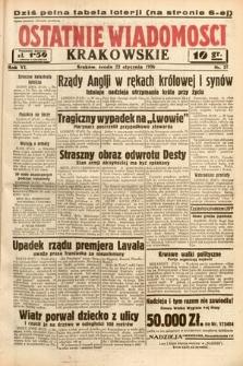 Ostatnie Wiadomości Krakowskie. 1936, nr22