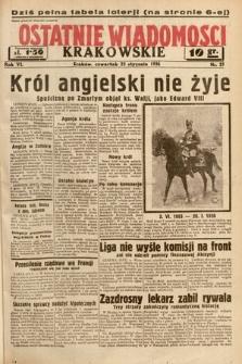 Ostatnie Wiadomości Krakowskie. 1936, nr23