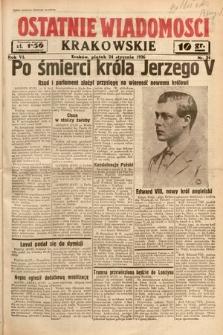 Ostatnie Wiadomości Krakowskie. 1936, nr24