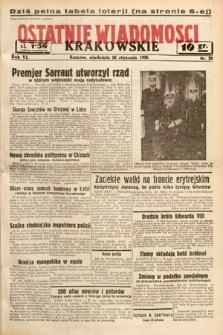 Ostatnie Wiadomości Krakowskie. 1936, nr26