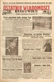 Ostatnie Wiadomości Krakowskie. 1936, nr27