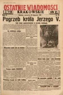 Ostatnie Wiadomości Krakowskie. 1936, nr30