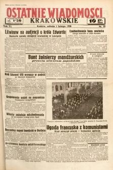 Ostatnie Wiadomości Krakowskie. 1936, nr32