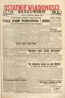 Ostatnie Wiadomości Krakowskie. 1936, nr33