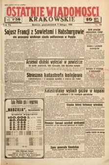 Ostatnie Wiadomości Krakowskie. 1936, nr34