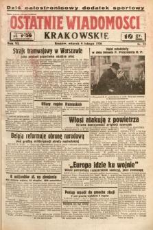 Ostatnie Wiadomości Krakowskie. 1936, nr35
