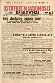 Ostatnie Wiadomości Krakowskie. 1936, nr37