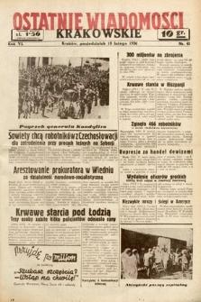 Ostatnie Wiadomości Krakowskie. 1936, nr41
