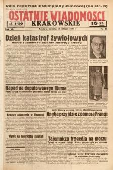 Ostatnie Wiadomości Krakowskie. 1936, nr46