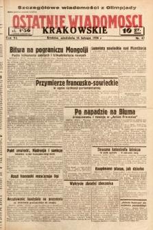 Ostatnie Wiadomości Krakowskie. 1936, nr47