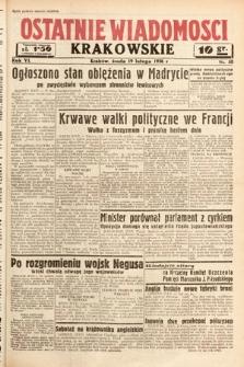 Ostatnie Wiadomości Krakowskie. 1936, nr50