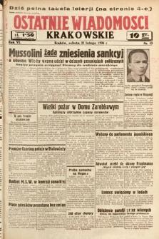 Ostatnie Wiadomości Krakowskie. 1936, nr53