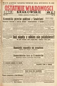 Ostatnie Wiadomości Krakowskie. 1936, nr54