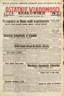 Ostatnie Wiadomości Krakowskie. 1936, nr55