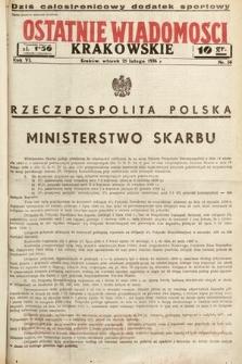 Ostatnie Wiadomości Krakowskie. 1936, nr56