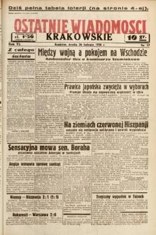 Ostatnie Wiadomości Krakowskie. 1936, nr57