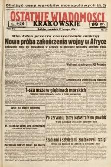 Ostatnie Wiadomości Krakowskie. 1936, nr58