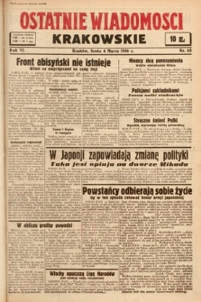 Ostatnie Wiadomości Krakowskie. 1936, nr66