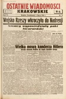 Ostatnie Wiadomości Krakowskie. 1936, nr71