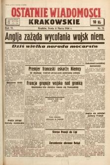 Ostatnie Wiadomości Krakowskie. 1936, nr73