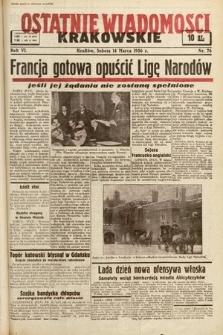 Ostatnie Wiadomości Krakowskie. 1936, nr76