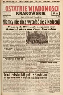 Ostatnie Wiadomości Krakowskie. 1936, nr77