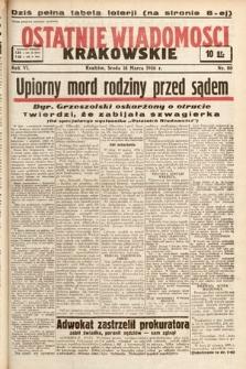 Ostatnie Wiadomości Krakowskie. 1936, nr80