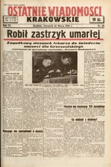 Ostatnie Wiadomości Krakowskie. 1936, nr88