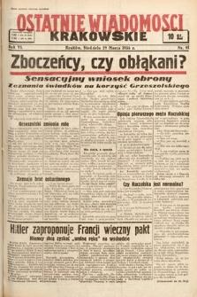 Ostatnie Wiadomości Krakowskie. 1936, nr91