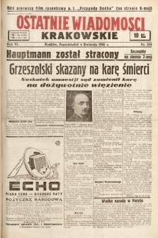 Ostatnie Wiadomości Krakowskie. 1936, nr100