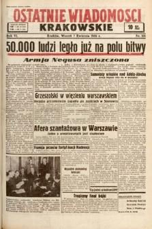 Ostatnie Wiadomości Krakowskie. 1936, nr101
