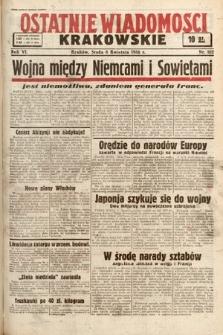 Ostatnie Wiadomości Krakowskie. 1936, nr102