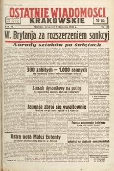 Ostatnie Wiadomości Krakowskie. 1936, nr103