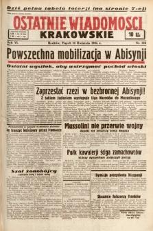 Ostatnie Wiadomości Krakowskie. 1936, nr104
