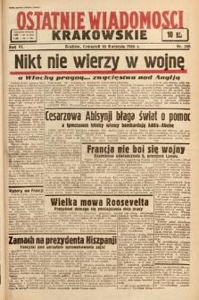 Ostatnie Wiadomości Krakowskie. 1936, nr108