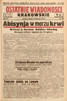 Ostatnie Wiadomości Krakowskie. 1936, nr109