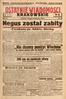 Ostatnie Wiadomości Krakowskie. 1936, nr114