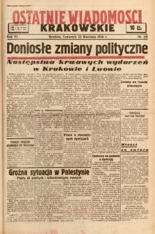Ostatnie Wiadomości Krakowskie. 1936, nr115