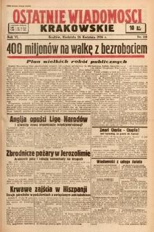 Ostatnie Wiadomości Krakowskie. 1936, nr118