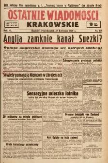 Ostatnie Wiadomości Krakowskie. 1936, nr119