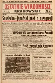Ostatnie Wiadomości Krakowskie. 1936, nr120