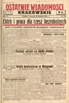Ostatnie Wiadomości Krakowskie. 1936, nr122
