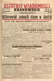 Ostatnie Wiadomości Krakowskie. 1936, nr123