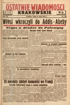 Ostatnie Wiadomości Krakowskie. 1936, nr128