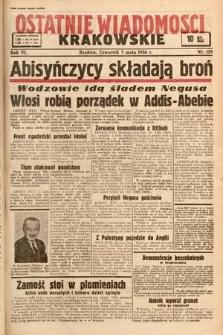 Ostatnie Wiadomości Krakowskie. 1936, nr129