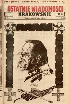 Ostatnie Wiadomości Krakowskie. 1936, nr135