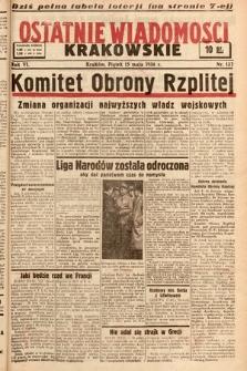 Ostatnie Wiadomości Krakowskie. 1936, nr137