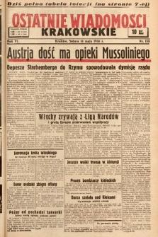 Ostatnie Wiadomości Krakowskie. 1936, nr138