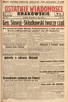 Ostatnie Wiadomości Krakowskie. 1936, nr139